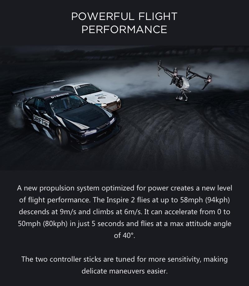 DJI Inspire 2 - Maximum/Top Speed