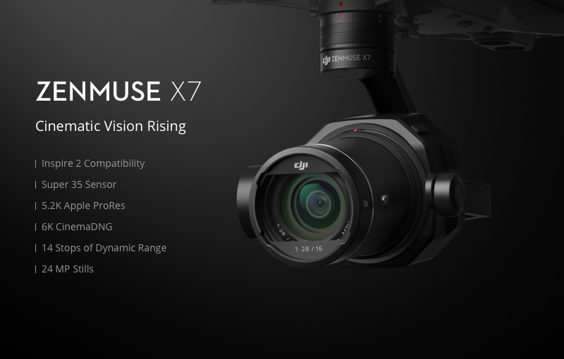 DJI Zenmuse X7 Key Features