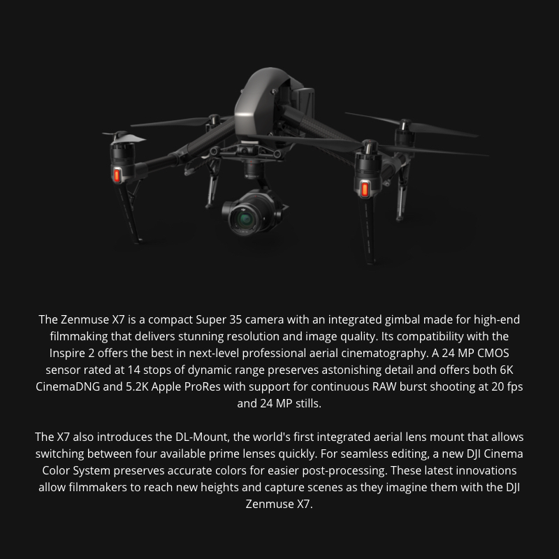 Zenmuse X7 Super 35 DJI Camera