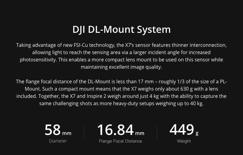 DJI DL -Mount System
