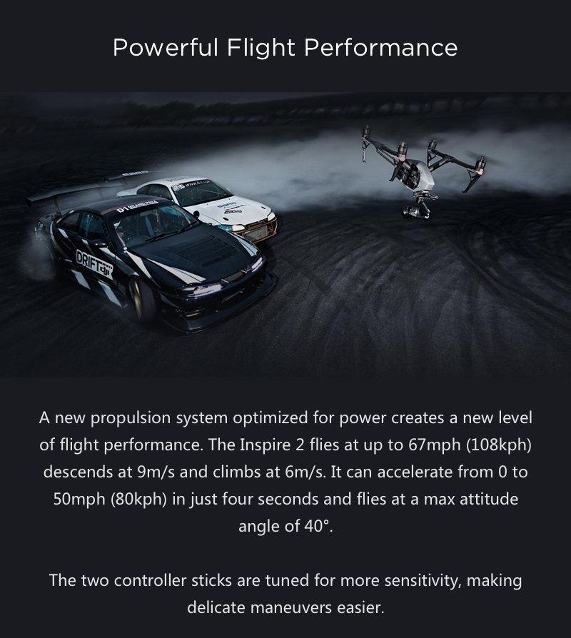 DJI Inspire 2 Powerful Flight Performance