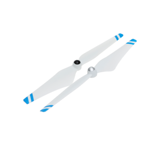 9450 Self-tightening Propellers (Metal Hub, White with Blue Stripes)