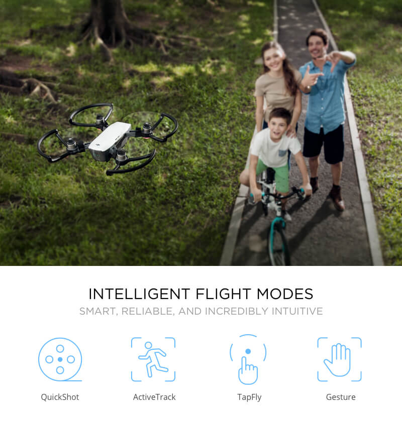 DJI Spark Drone Intelligent Flight Modes