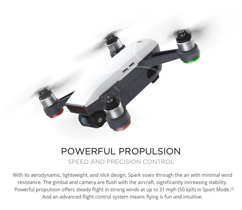 DJI Spark Drone Powerful Propulsion