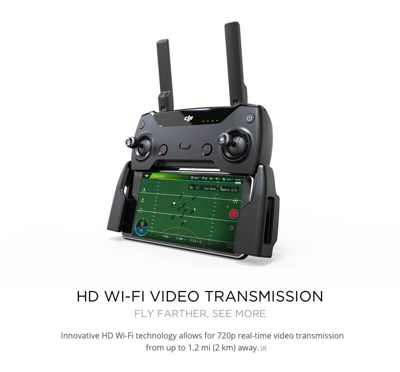 DJI Spark Drone HD Wifi Video Transmission