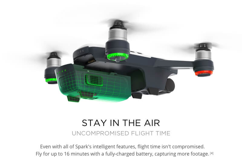 DJI Spark Drone Stay in the air