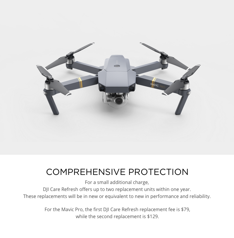 DJI Care Refresh Replacement Fees Mavic Pro