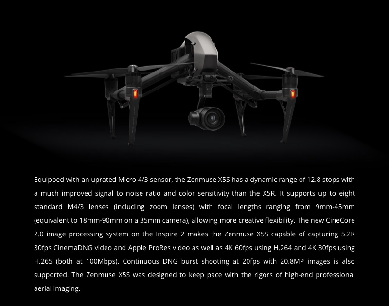 Buy DJI Zenmuse X5S Camera and Gimbal