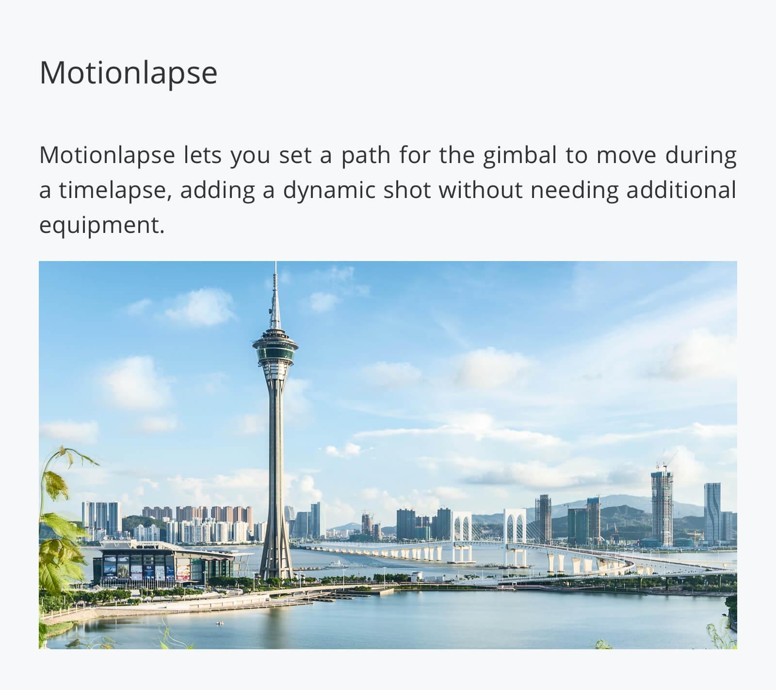 Ronin-S Motionlapse