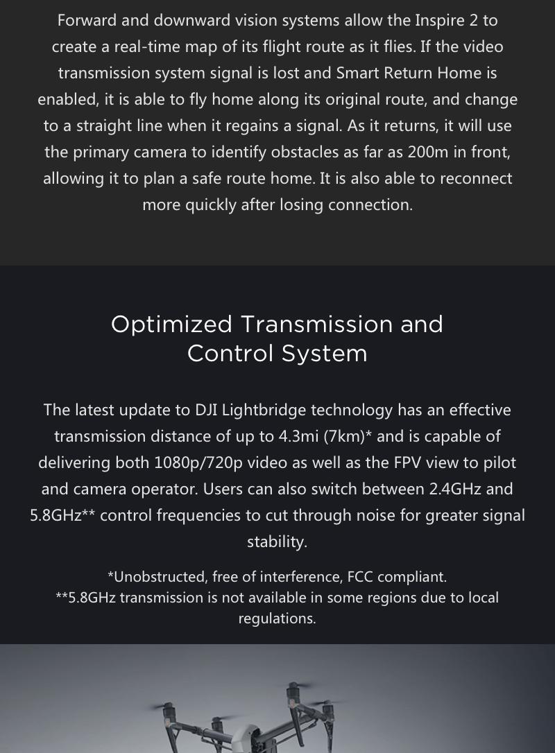 Inspire 2 Transmission System