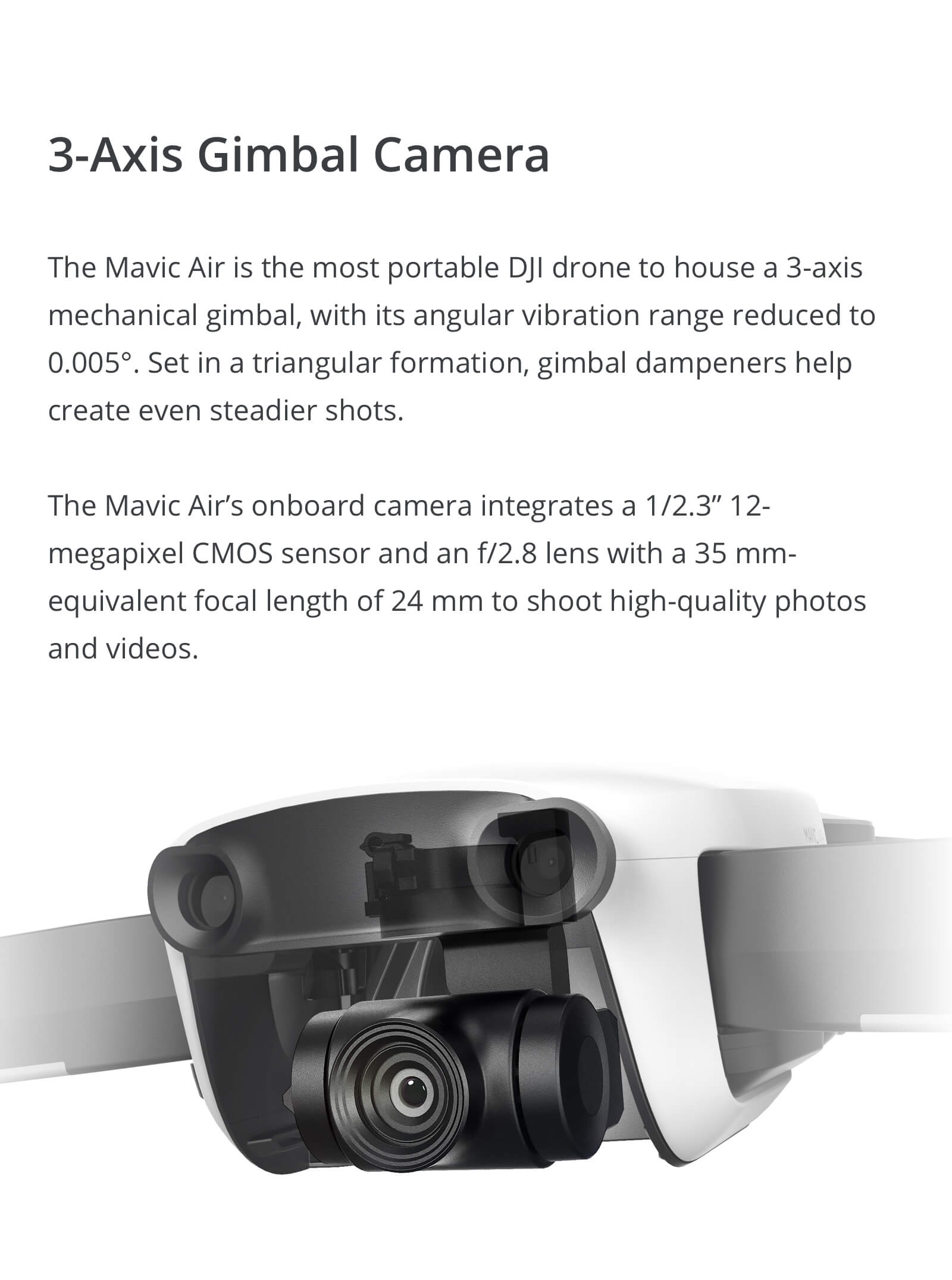 DJI Mavic Air Quadcopter Drone with Remote Controller - Brand New